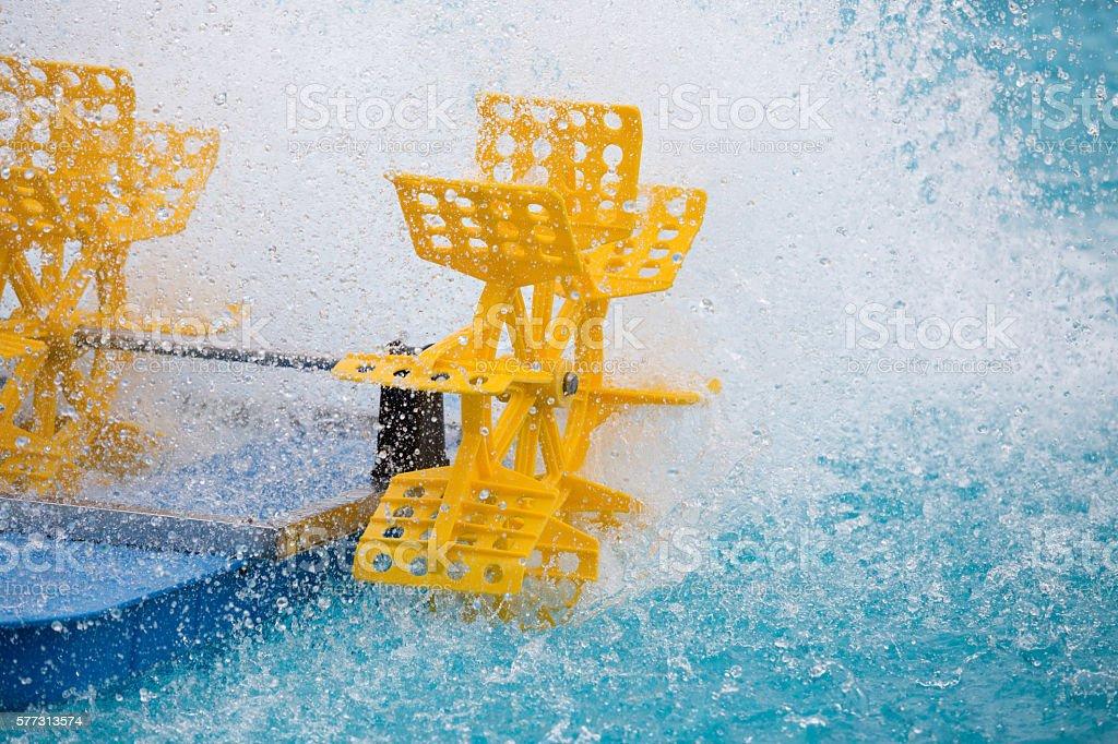 Plastic water turbine stock photo
