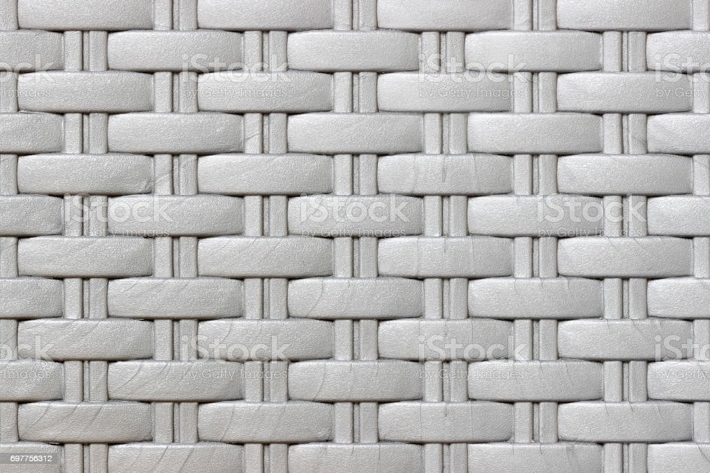 Plastic weave pattern texture and background stock photo