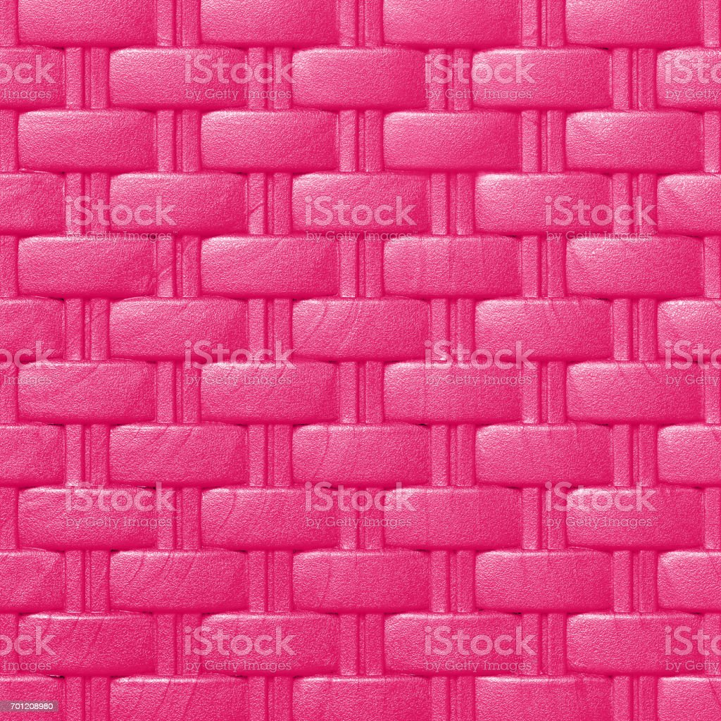 Plastic weave pattern texture and background;  pink color stock photo