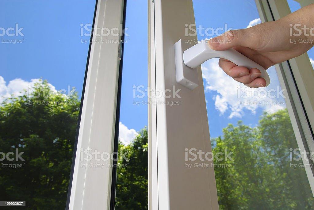 plastic window stock photo