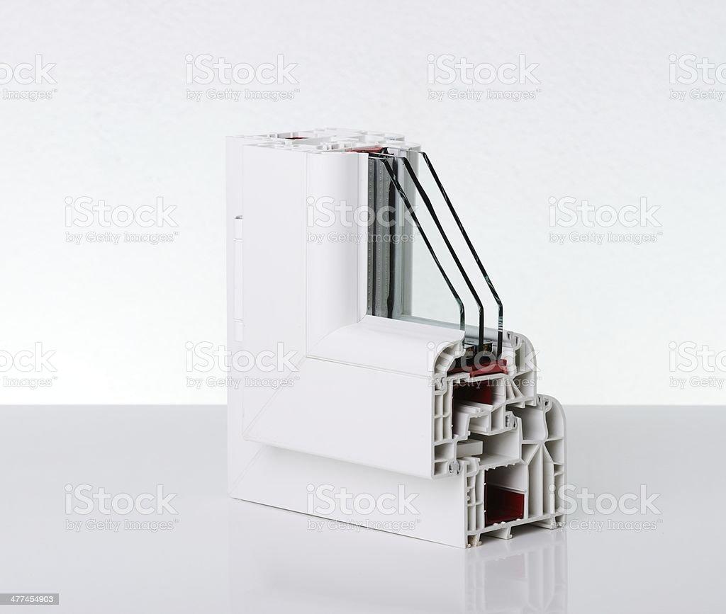 Plastic window profile stock photo
