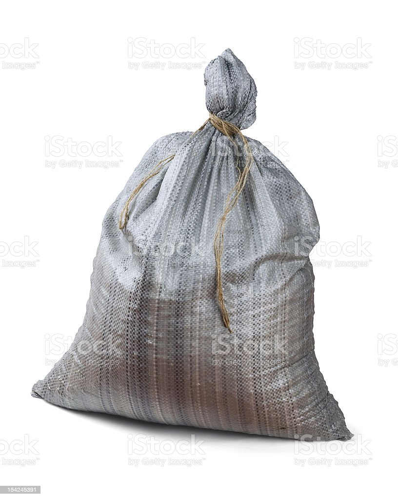 Plastic woven sack royalty-free stock photo