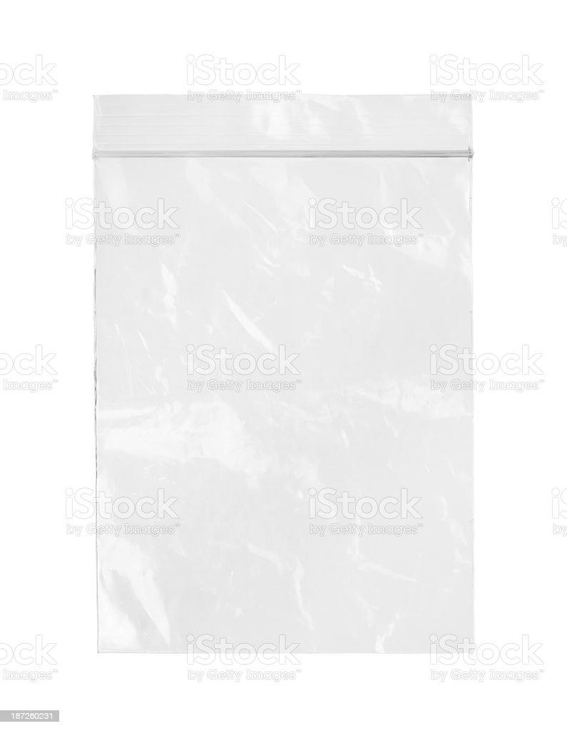 Plastic zipper bag stock photo