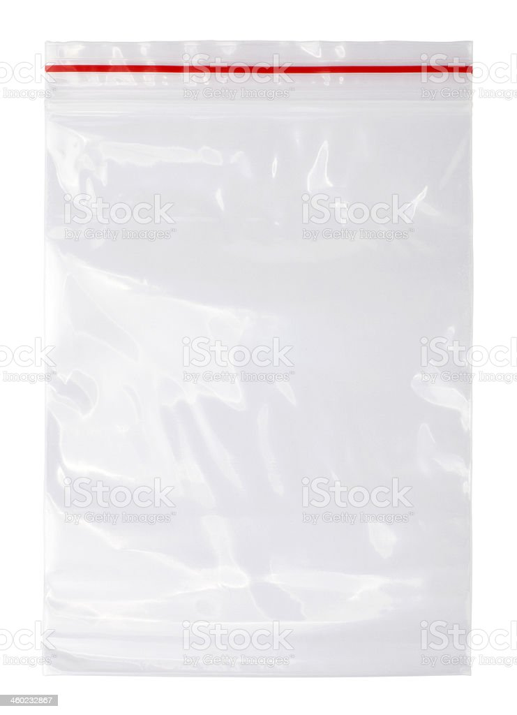 Plastic zipper bag stock photo