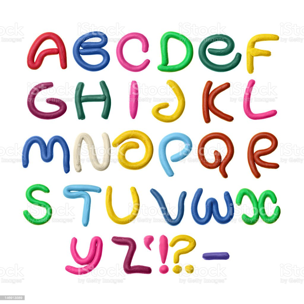 Plasticine alphabet royalty-free stock photo