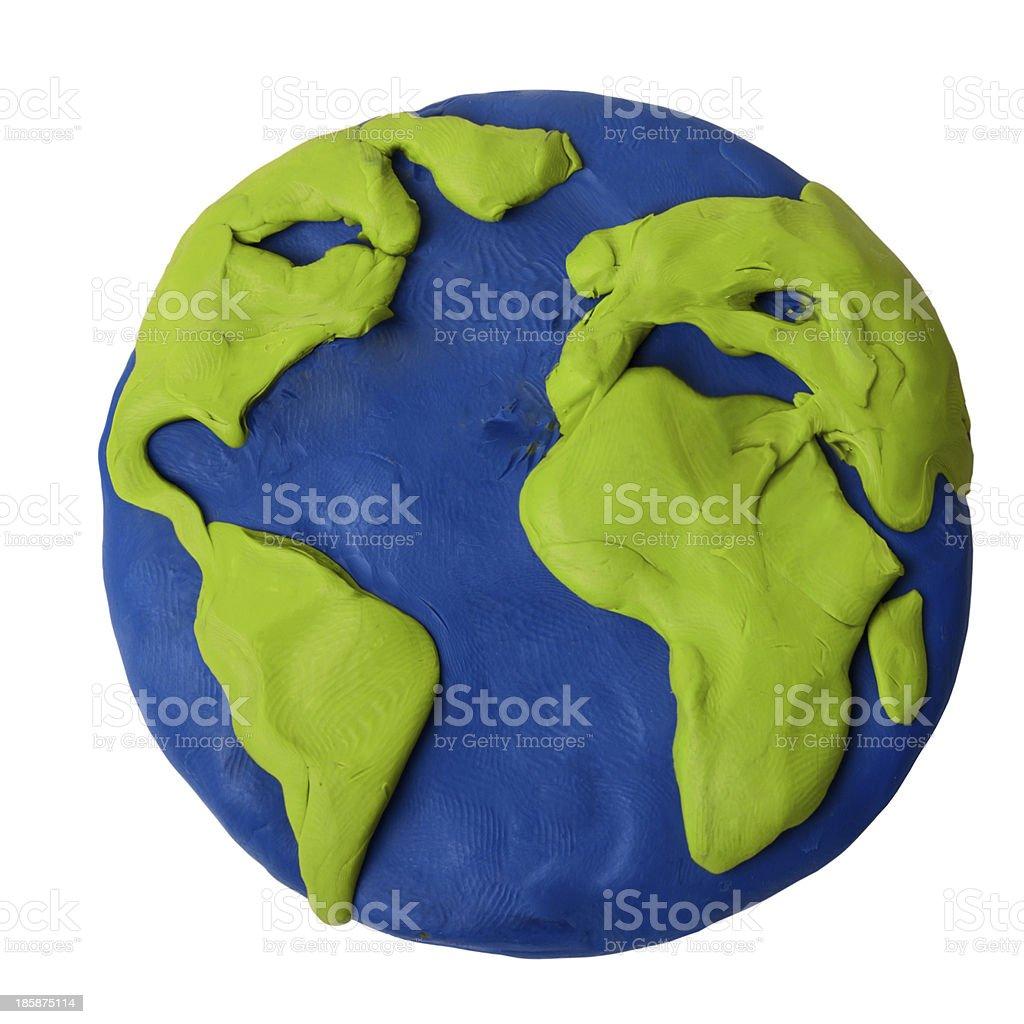 Plasticine earth stock photo