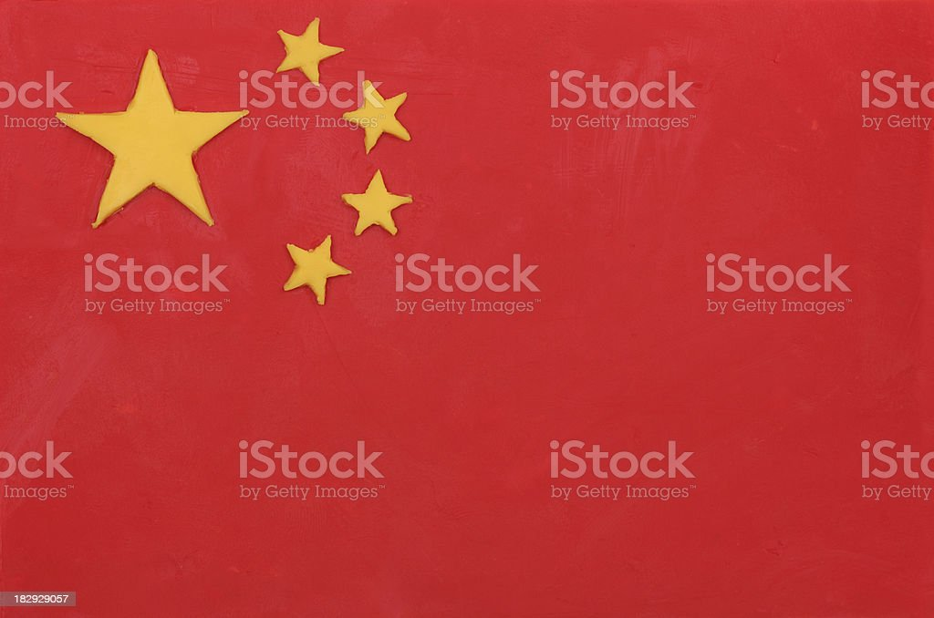 Plasticine flag of China royalty-free stock photo