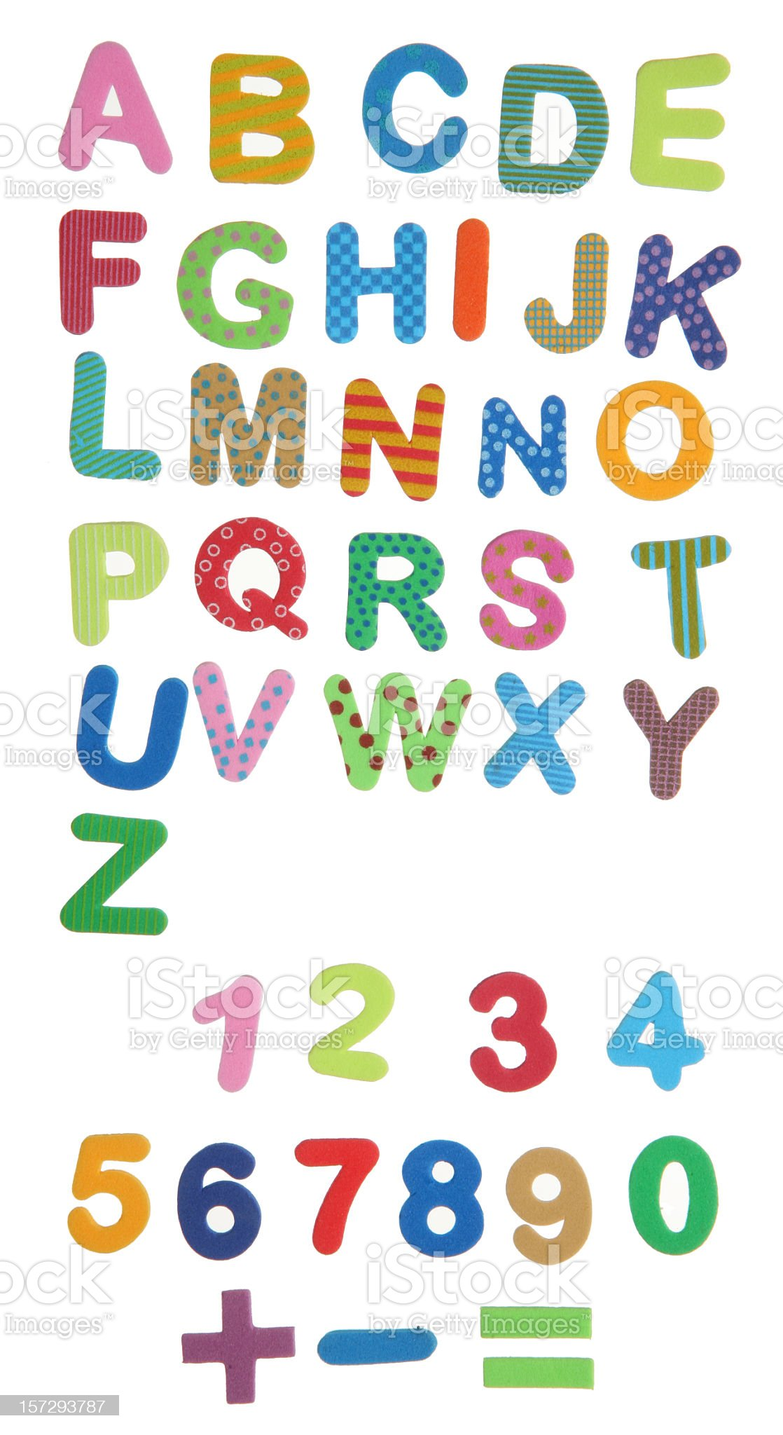 plasticine letters royalty-free stock photo