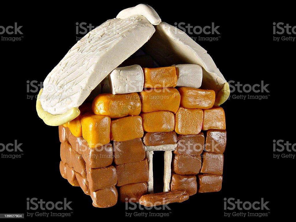 Plasticine small house royalty-free stock photo