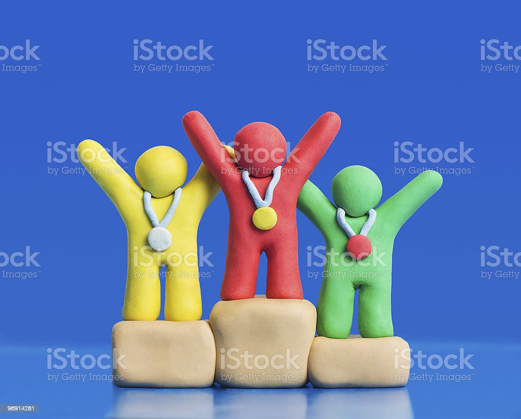 Plasticine Winners royalty-free stock photo