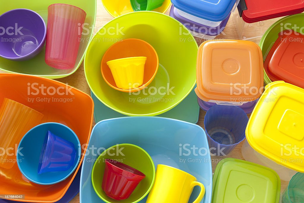 Plasticware stock photo