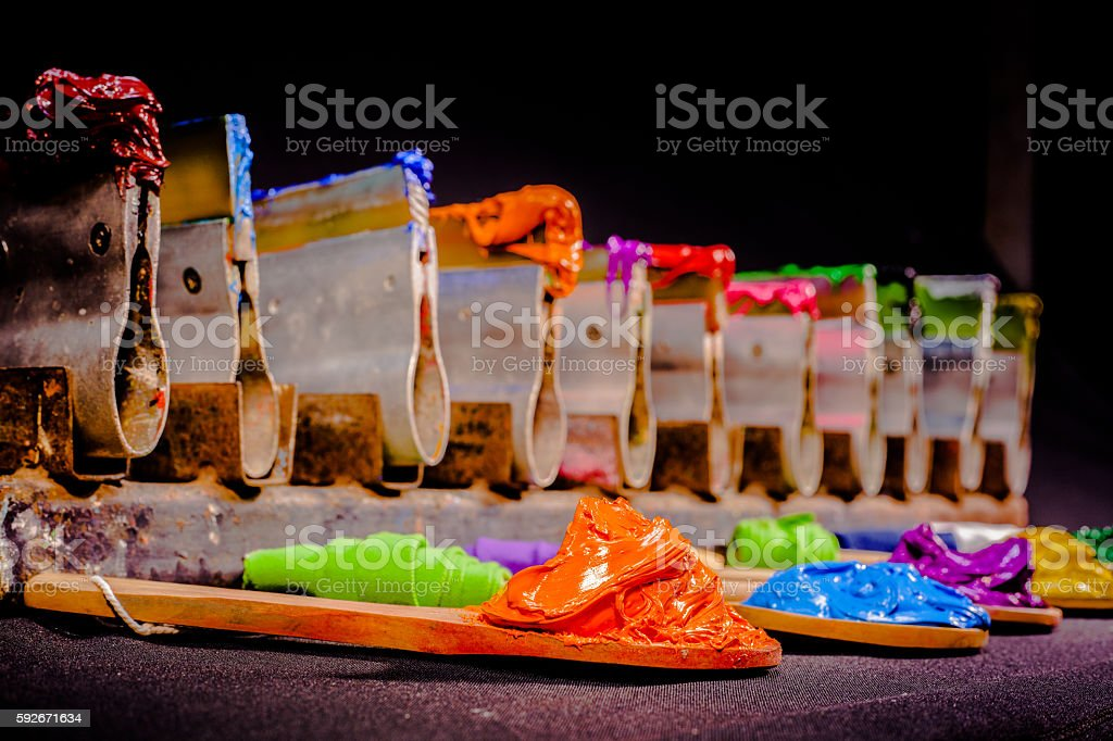 plastisol ink for print tee shirts stock photo