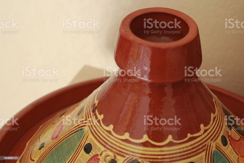 Plat à Tajine du maroc couvercle royalty-free stock photo