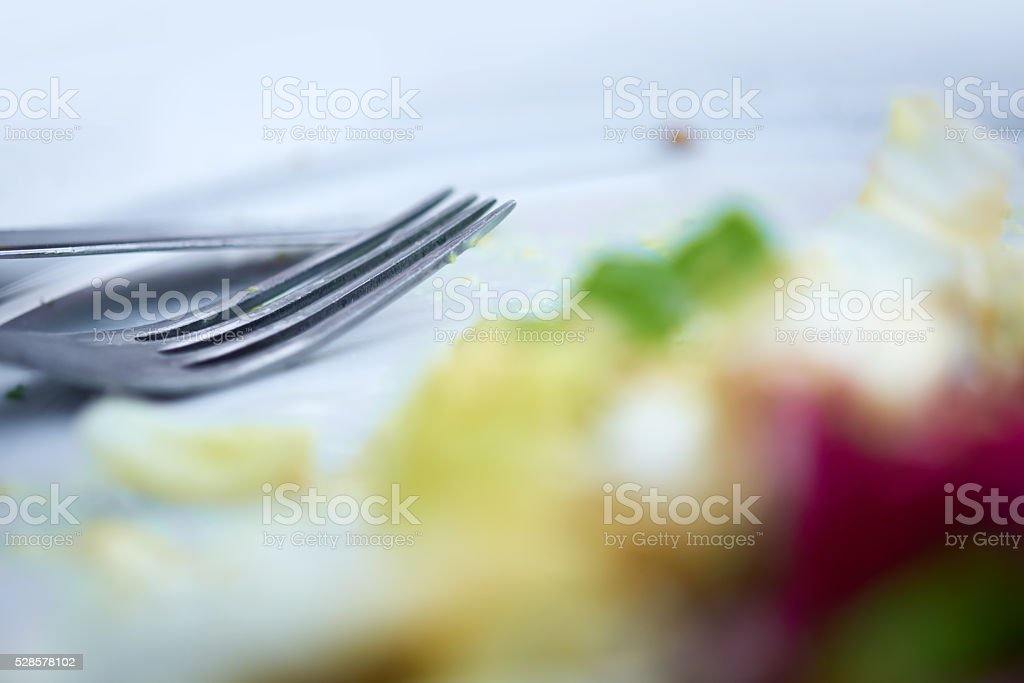 plate after eating stock photo