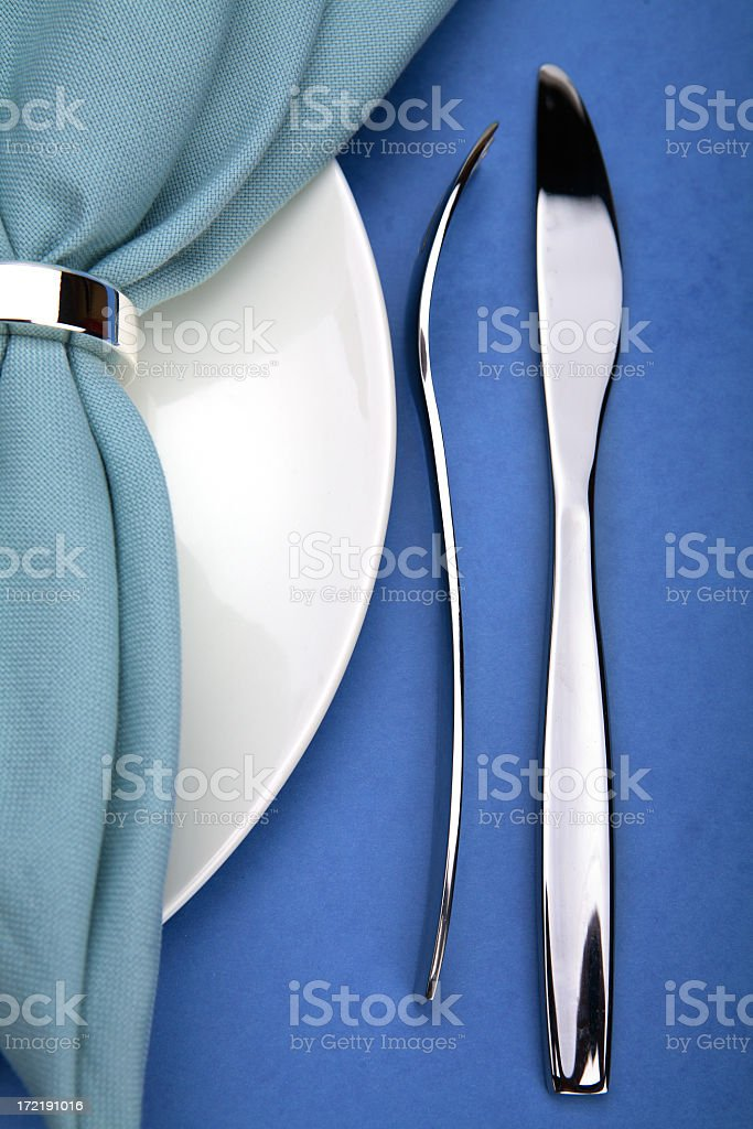 Plate and cutlery. royalty-free stock photo
