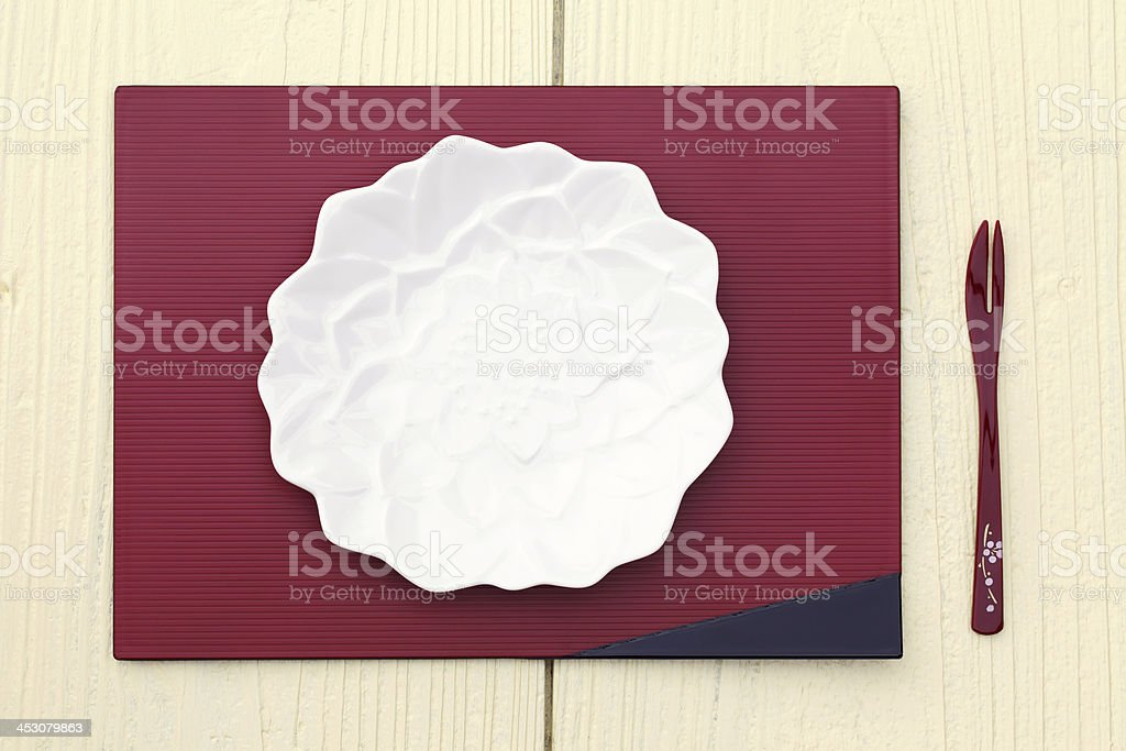plate and fork royalty-free stock photo