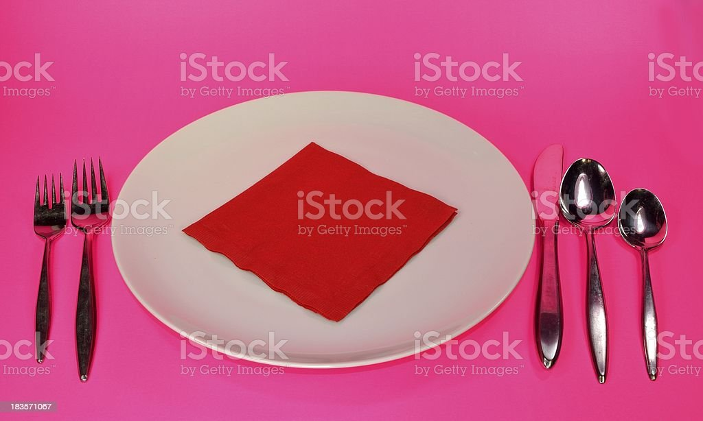 Plate and utensils royalty-free stock photo