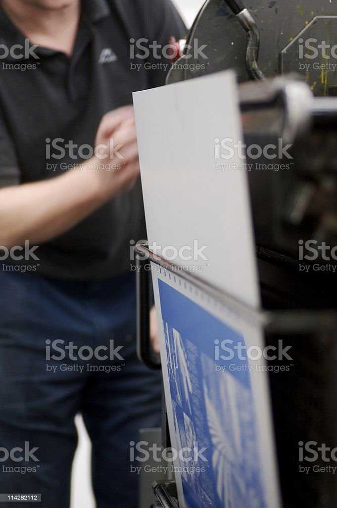 Plate Change... stock photo