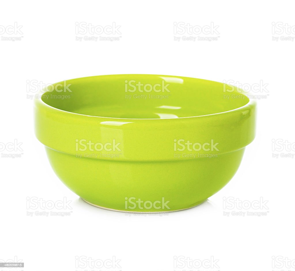 Plate, dish green isolated royalty-free stock photo