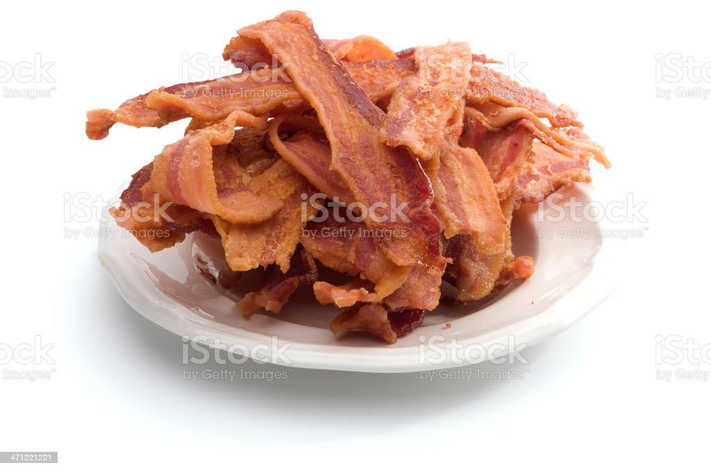 Plate of Bacon royalty-free stock photo