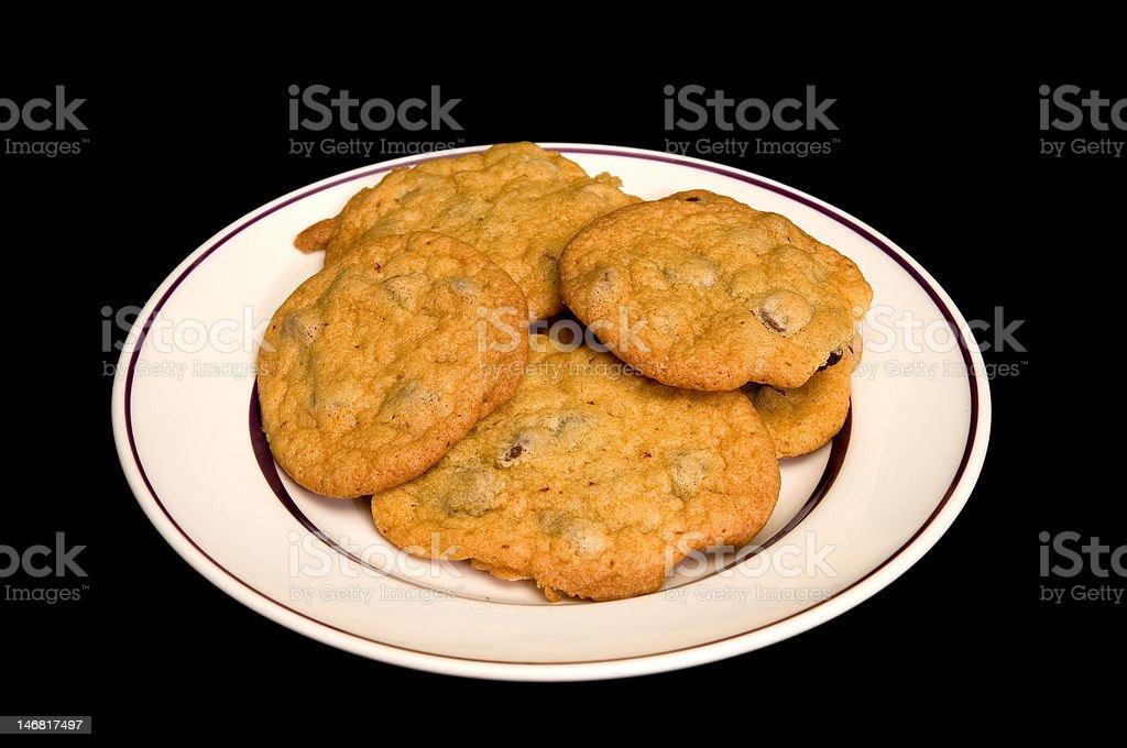 Prato de Cookies assados foto royalty-free
