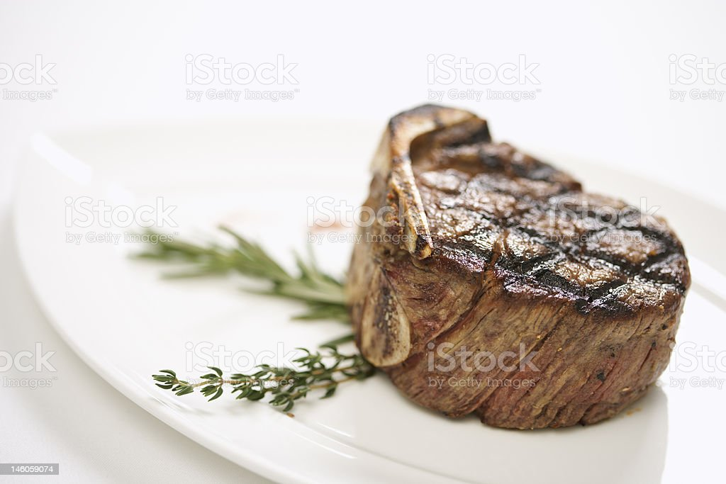 Plate of beef. royalty-free stock photo