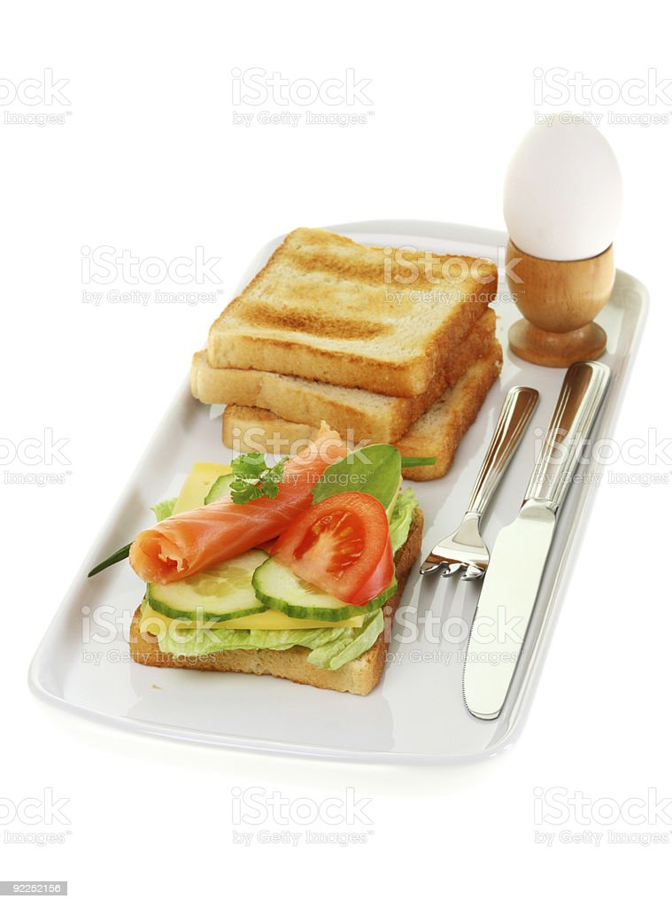 Plate of breakfast. royalty-free stock photo