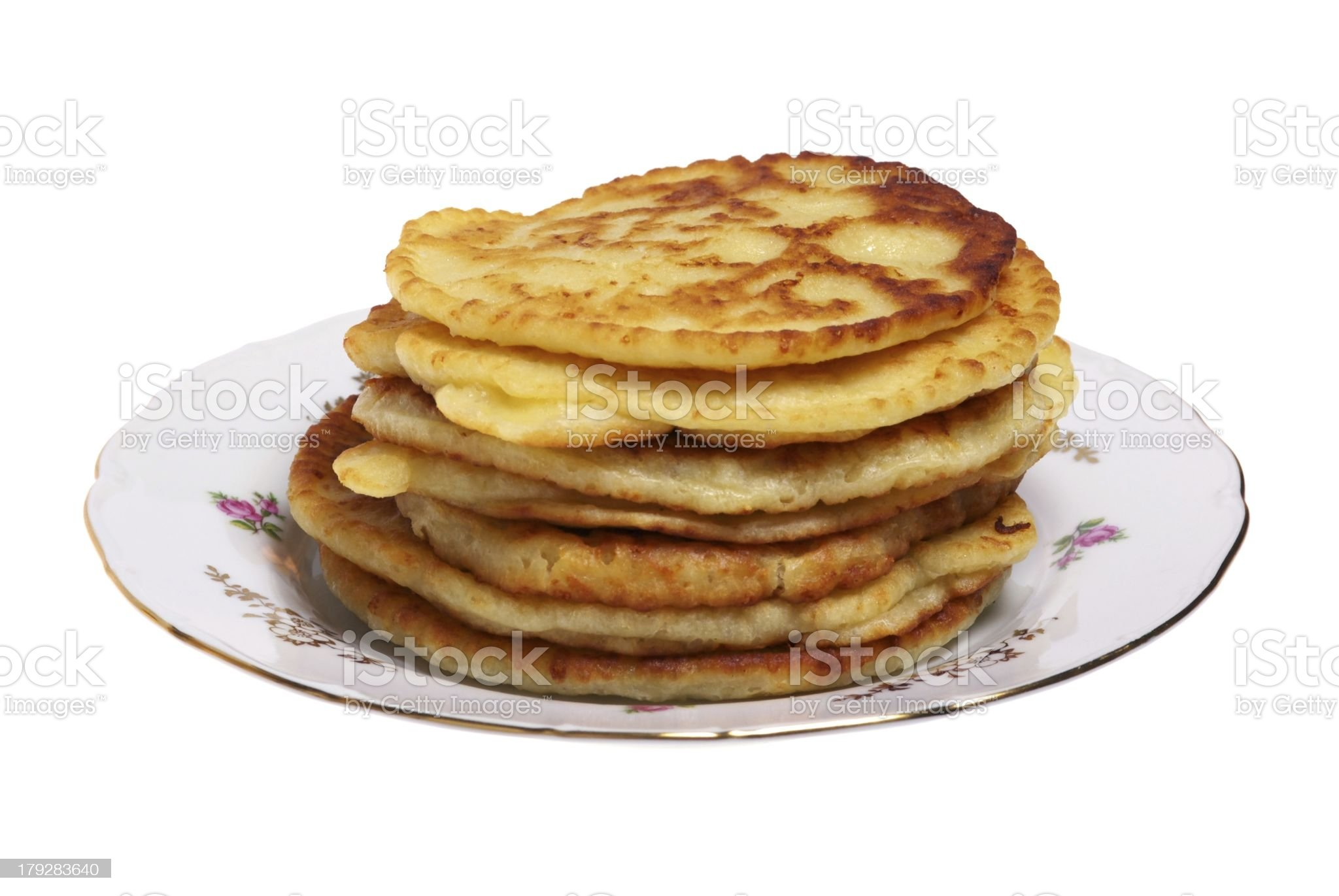 Plate of cheese pancakes royalty-free stock photo