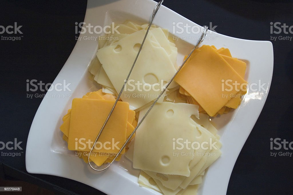 Plate of Cheese royalty-free stock photo