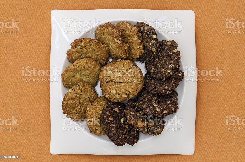 Plate of Cookies 02-Orange royalty-free stock photo