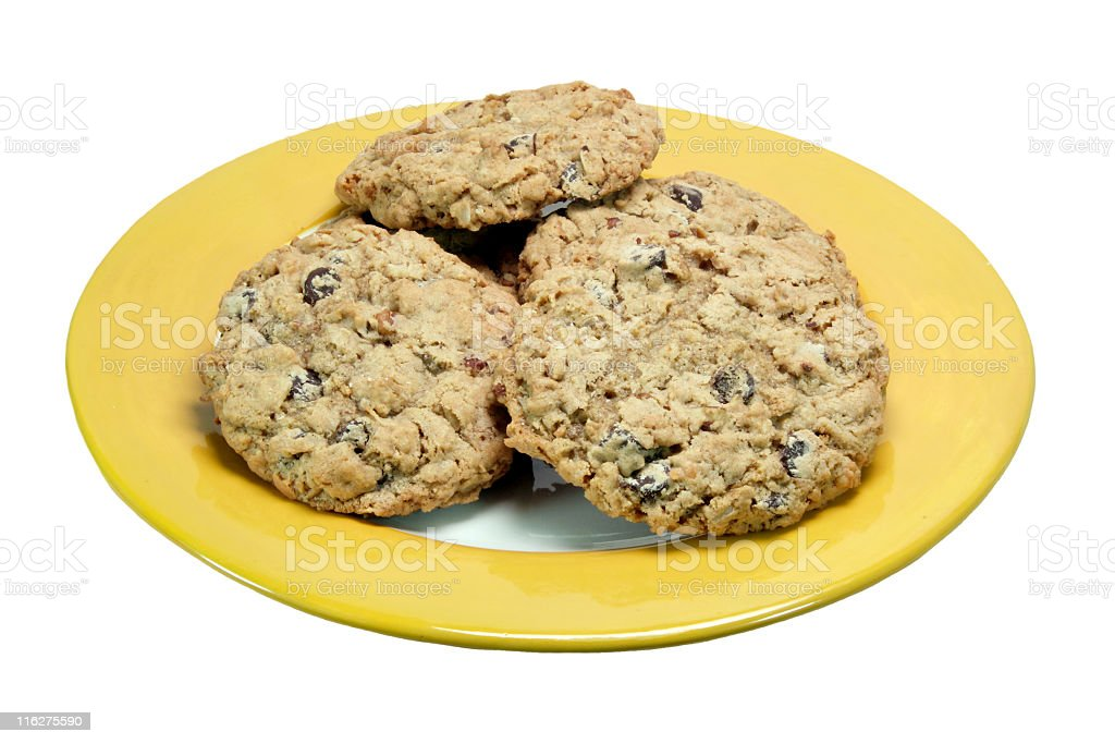 Plate of Cookies royalty-free stock photo