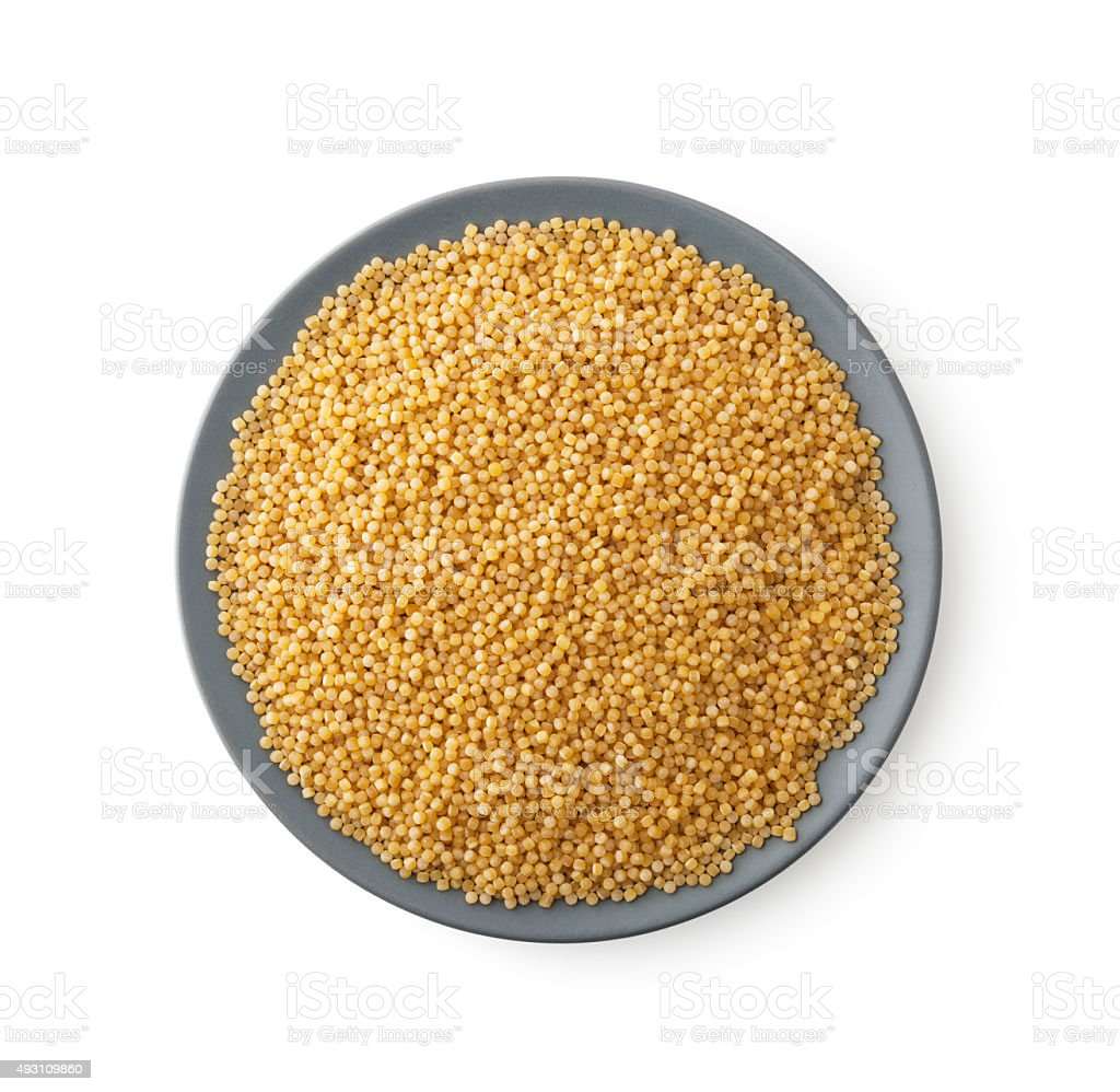 Plate of couscous stock photo