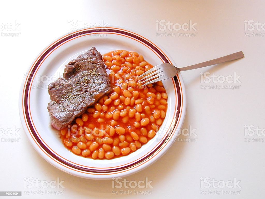 plate of food royalty-free stock photo