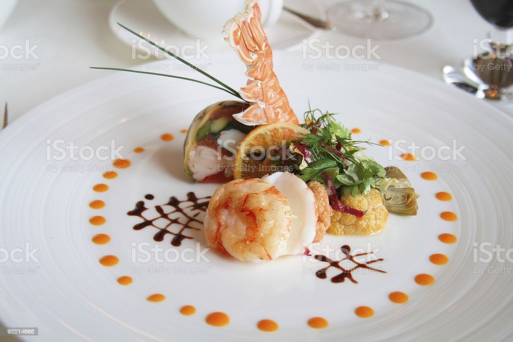 Plate of French food stock photo