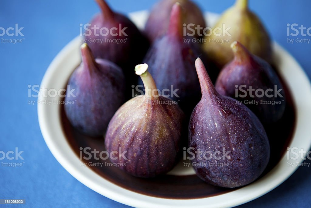 Plate Of Fresh Figs royalty-free stock photo