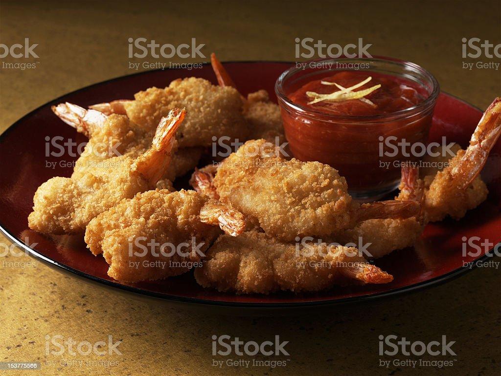 Prato de camarão frito. foto royalty-free