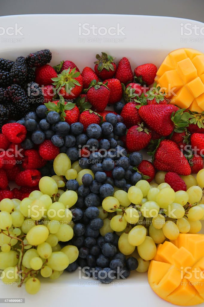 Plate of Fruit royalty-free stock photo