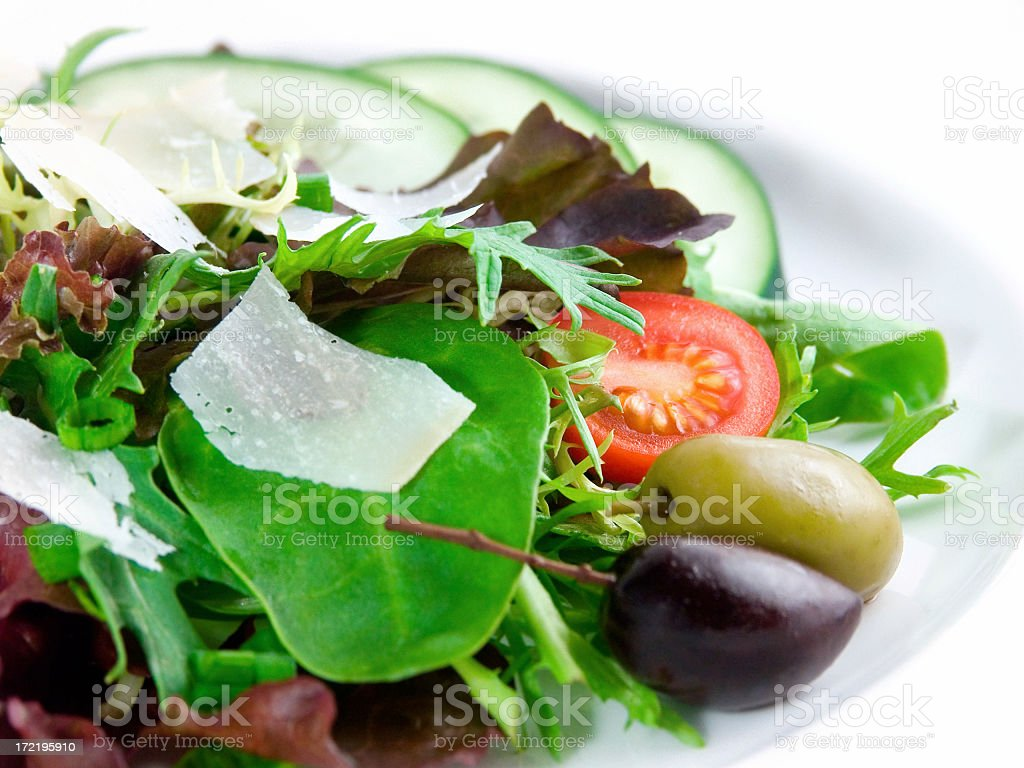 A plate of healthy green salad royalty-free stock photo