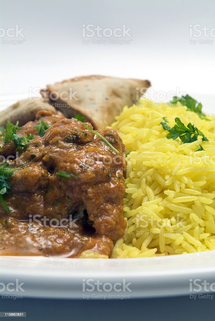 Plate of indian curry royalty-free stock photo