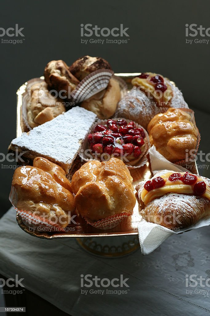Plate of Italian Pastries royalty-free stock photo