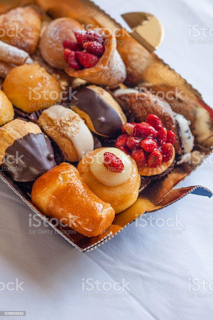 Plate of Italian Pastries stock photo