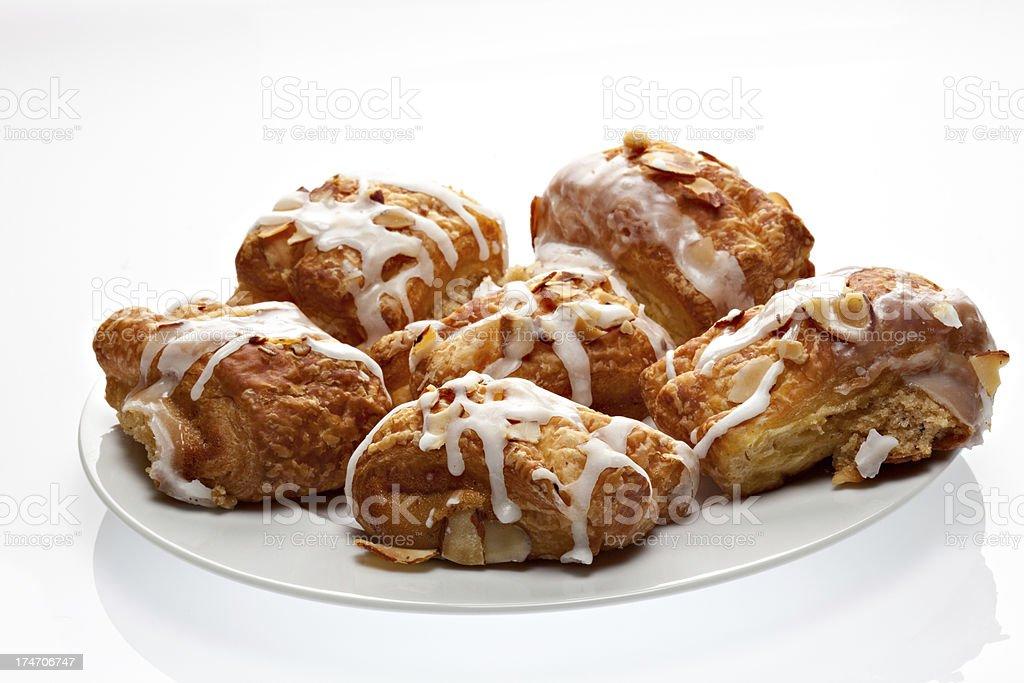 Plate Of Mini Danish Pastry royalty-free stock photo