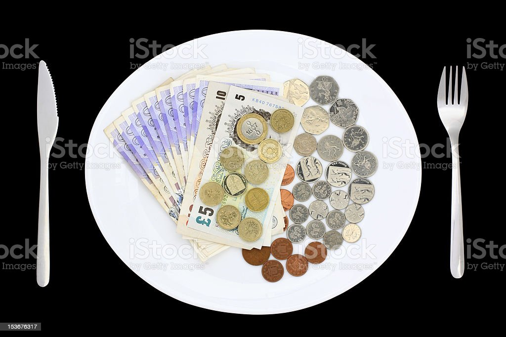 Plate of Money royalty-free stock photo