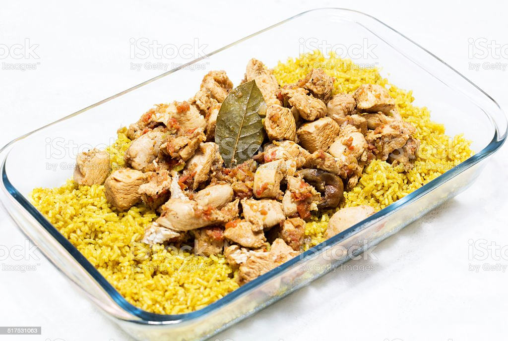 plate of oriental food stock photo