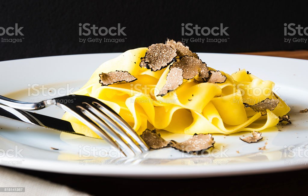 Plate of pasta. stock photo