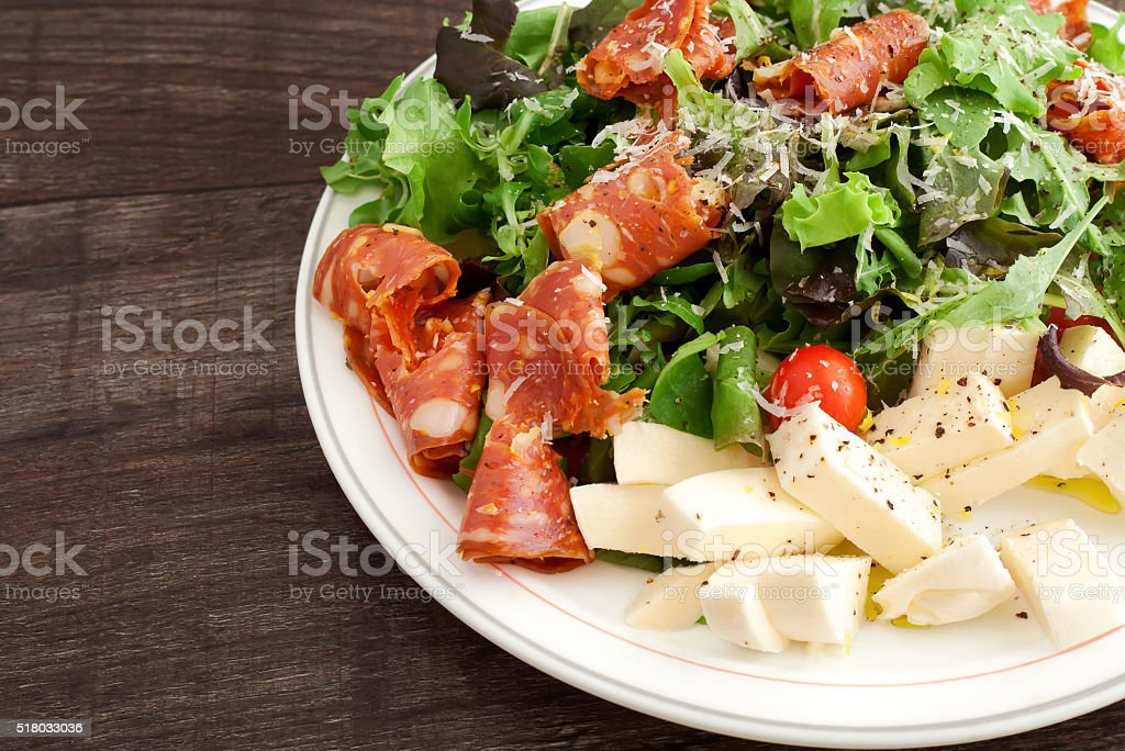 Plate of Salad royalty-free stock photo