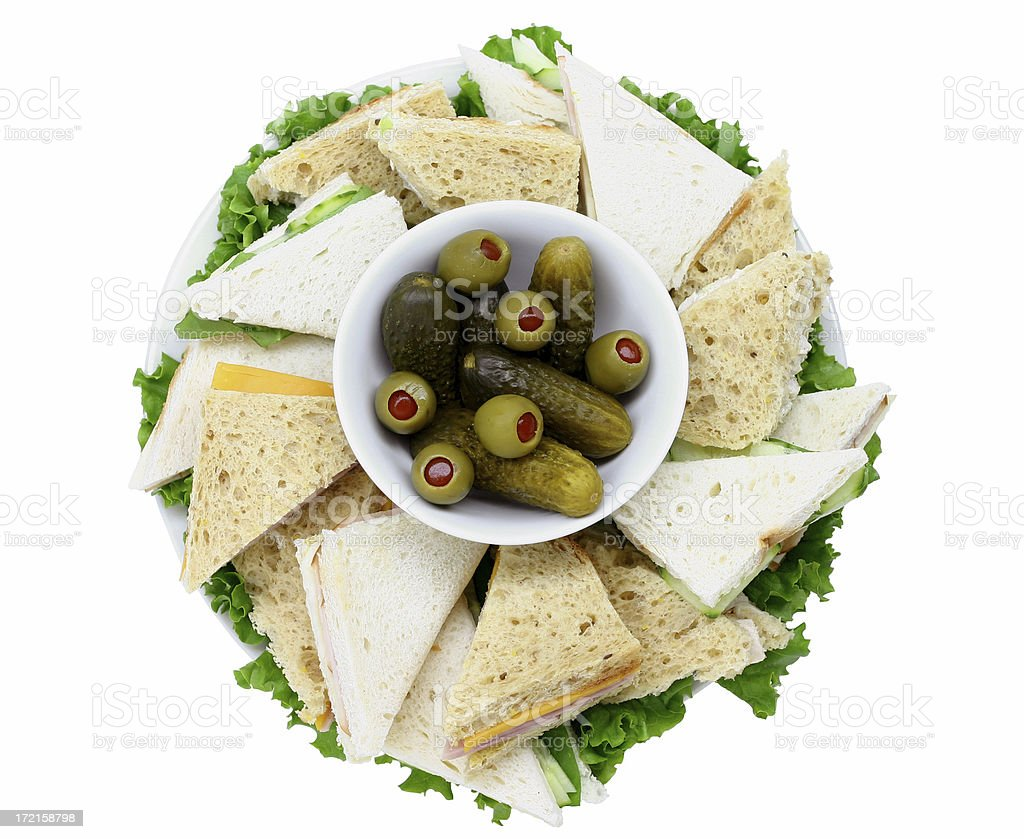 plate of sandwiches royalty-free stock photo