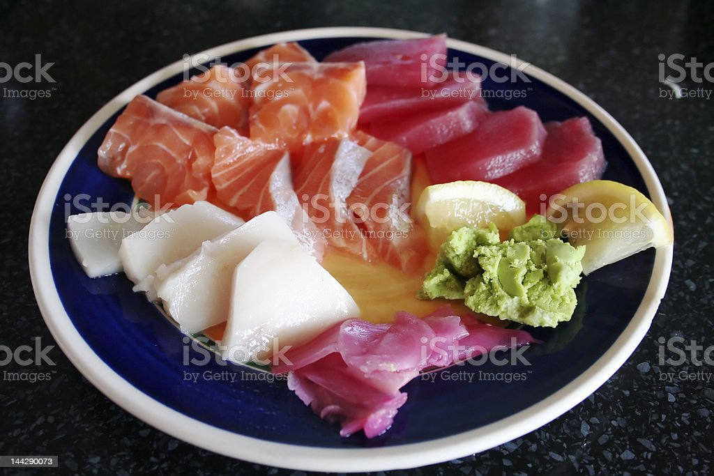Plate of sashimi royalty-free stock photo