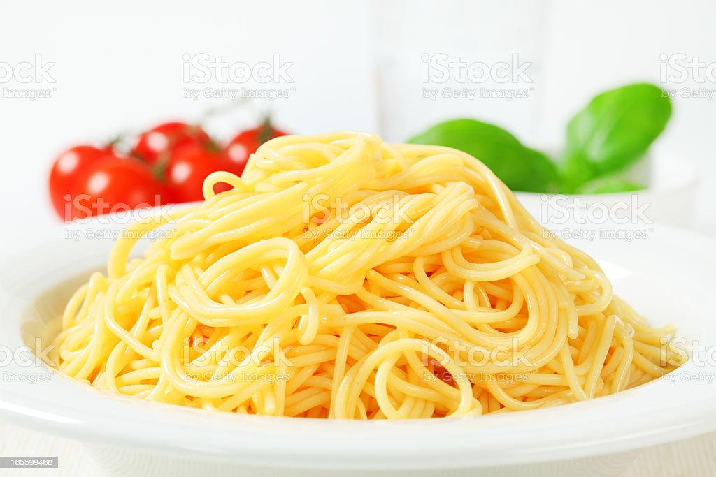 plate of spaghetti royalty-free stock photo