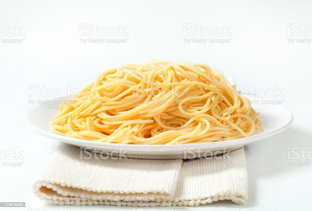 plate of spaghetti royalty-free stock photo